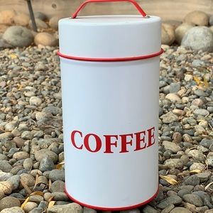 Other - Red & White Coffee canister